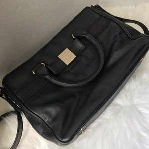 Kate Spade Black Leather Crossbody Messenger Bag